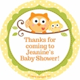 Happi Tree Owl Baby Shower Custom Stickers