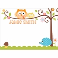 Happi Tree Owl Baby Shower Custom Thank You Note