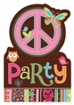 Hippie Chick Happy Birthday Invitation