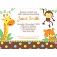 Jungle Baby Shower Custom Invitation