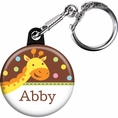 Jungle Baby Shower Custom Keychain