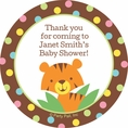 Jungle Baby Shower Custom Stickers