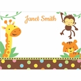 Jungle Baby Shower Custom Thank You Note