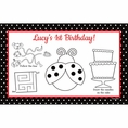 Ladybug Fancy 1st Birthday Custom Activity Placemats