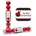 Ladybug Fancy 1st Birthday Custom Candy Tubes