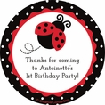 Ladybug Fancy 1st Birthday Custom Stickers
