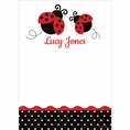 Ladybug Fancy 1st Birthday Custom Thank You Note