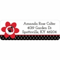 Ladybug Fancy Baby Shower Custom Address Labels