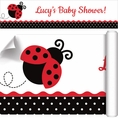 Ladybug Fancy Baby Shower Custom Banner