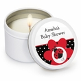 Ladybug Fancy Baby Shower Custom Candles