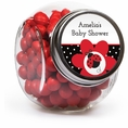 Ladybug Fancy Baby Shower Custom Candy Jars