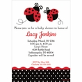 Ladybug Fancy Baby Shower Custom Invitation
