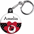 Ladybug Fancy Baby Shower Custom Keychain