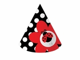 Ladybug Fancy Cone Party Hats