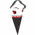 Ladybug Fancy Cone Shape Favor Bags