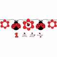 Ladybug Fancy Ribbon Circle Banner