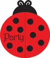 Ladybug Fancy Party Invitations - Bulk