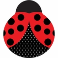 "Ladybug Fancy Shaped 9"" Dinner Plates"