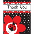 Ladybug Fancy Thank You Cards