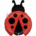Ladybug Shaped Mylar Balloon