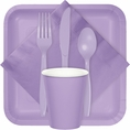 Lavender Party Tableware