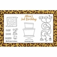 Leopard Animal Print Custom Activity Placemats