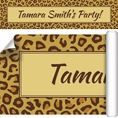 Leopard Animal Print Custom Banner