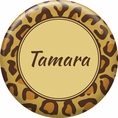 Leopard Animal Print Custom Button