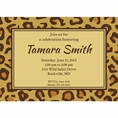 Leopard Animal Print Custom Invitation
