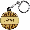 Leopard Animal Print Custom Keychain