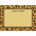 Leopard Animal Print Custom Thank You Note
