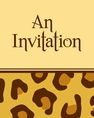Leopard Animal Print Foldover Invitation