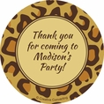 Leopard Animal Print Custom Stickers