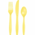 Mimosa Yellow Assorted Plastic Cutlery 24 Count