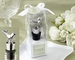 �Lovebirds� Chrome Bottle Stopper