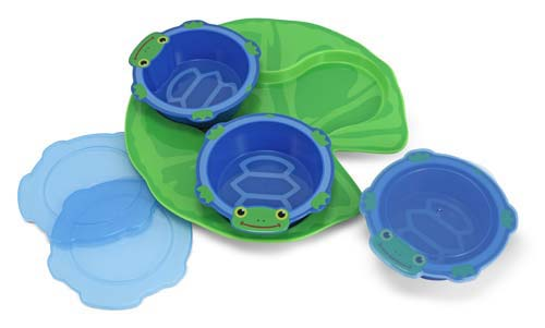 Melissa and Doug Scootin' Turtle Plastic Bowls & Tray Set