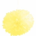 Mimosa Yellow Pom Pom Tissue Decorations