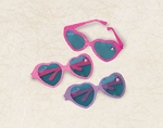 Minnie Mouse Glitter Heart Glasses
