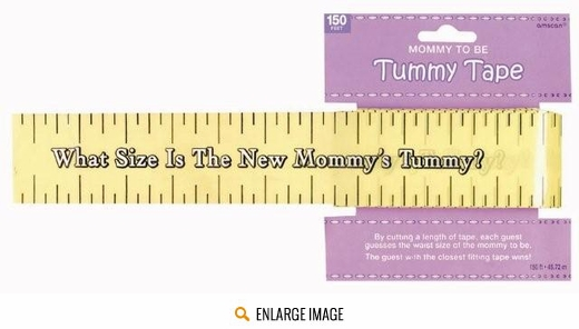 Mommy To Be Tummy Tape Game|Measure The Mommy Tummy Game