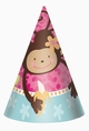 Monkey Love Cone Party Hats
