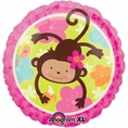 Monkey Love Mylar Balloon