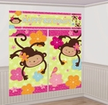 Monkey Love Scene Setter Mural Decoration