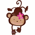 Monkey Love Shaped Mylar Balloon