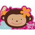 Monkey Love Thank You Cards