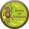Monkeyin' Around Personalized Magnet