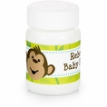 Monkeyin' Around Baby Shower Personalized Bubbles
