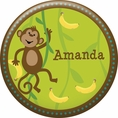 Monkeyin' Around Baby Shower Personalized Button