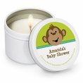 Monkeyin' Around Baby Shower Personalized Candles