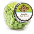 Monkeyin' Around Baby Shower Custom Candy Jars