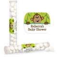 Monkeyin' Around Baby Shower Personalized Candy Tubes